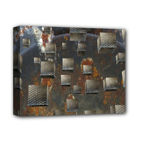 Background Metal Pattern Texture Deluxe Canvas 14  X 11  (stretched) by Celenk