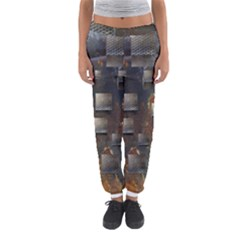 Background Metal Pattern Texture Women s Jogger Sweatpants