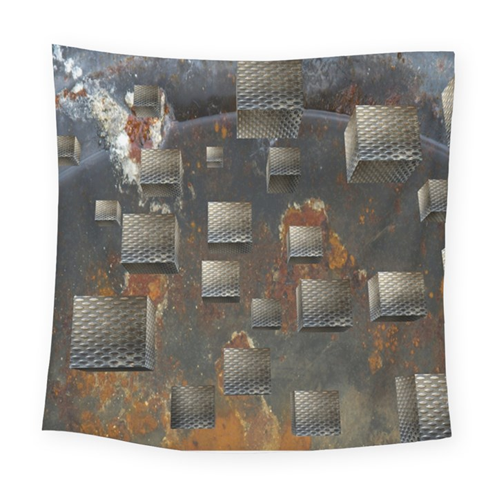 Background Metal Pattern Texture Square Tapestry (Large)