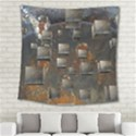 Background Metal Pattern Texture Square Tapestry (Large) View2