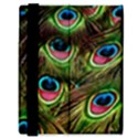 Peacock Feathers Color Plumage Samsung Galaxy Tab 8.9  P7300 Flip Case View3