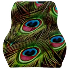 Peacock Feathers Color Plumage Car Seat Velour Cushion