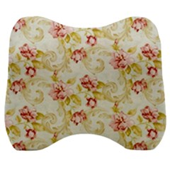 Background Pattern Flower Spring Velour Head Support Cushion by Celenk