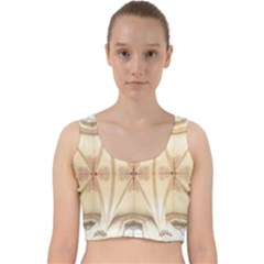 Wells Cathedral Wells Cathedral Velvet Racer Back Crop Top