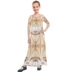 Wells Cathedral Wells Cathedral Kids  Quarter Sleeve Maxi Dress by Celenk