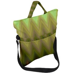 Zig Zag Chevron Classic Pattern Fold Over Handle Tote Bag