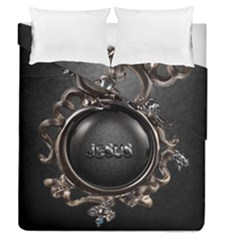 Jesus Duvet Cover Double Side (queen Size) by NSGLOBALDESIGNS2