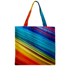 Rainbow Zipper Grocery Tote Bag by NSGLOBALDESIGNS2