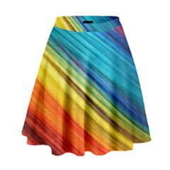 Rainbow High Waist Skirt by NSGLOBALDESIGNS2