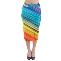 Rainbow Midi Pencil Skirt by NSGLOBALDESIGNS2
