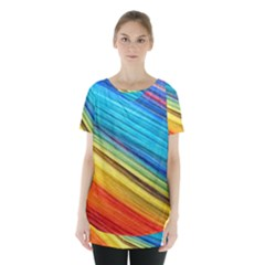 Rainbow Skirt Hem Sports Top by NSGLOBALDESIGNS2