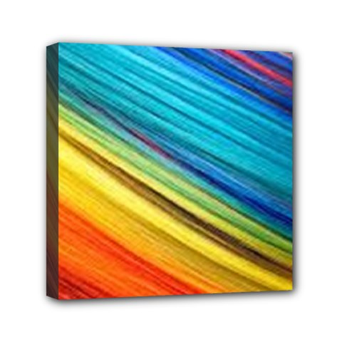 Rainbow Mini Canvas 6  X 6  (stretched) by NSGLOBALDESIGNS2