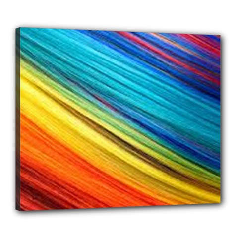 Rainbow Canvas 24  X 20  (stretched) by NSGLOBALDESIGNS2