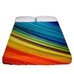 Rainbow Fitted Sheet (california King Size) by NSGLOBALDESIGNS2