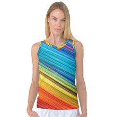 Rainbow Women s Basketball Tank Top by NSGLOBALDESIGNS2