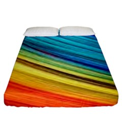Rainbow Fitted Sheet (king Size) by NSGLOBALDESIGNS2