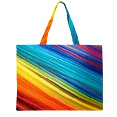 Rainbow Zipper Large Tote Bag by NSGLOBALDESIGNS2