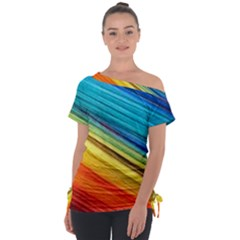 Rainbow Tie Up Tee by NSGLOBALDESIGNS2