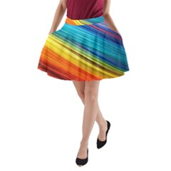 Rainbow A Line Pocket Skirt by NSGLOBALDESIGNS2