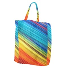 Rainbow Giant Grocery Tote by NSGLOBALDESIGNS2
