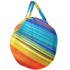 Rainbow Giant Round Zipper Tote by NSGLOBALDESIGNS2