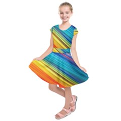 Rainbow Kids  Short Sleeve Dress by NSGLOBALDESIGNS2