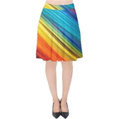 Rainbow Velvet High Waist Skirt by NSGLOBALDESIGNS2