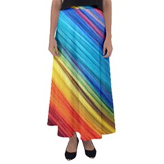 Rainbow Flared Maxi Skirt by NSGLOBALDESIGNS2