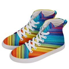 Rainbow Men s Hi Top Skate Sneakers by NSGLOBALDESIGNS2