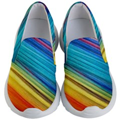 Rainbow Kid s Lightweight Slip Ons by NSGLOBALDESIGNS2
