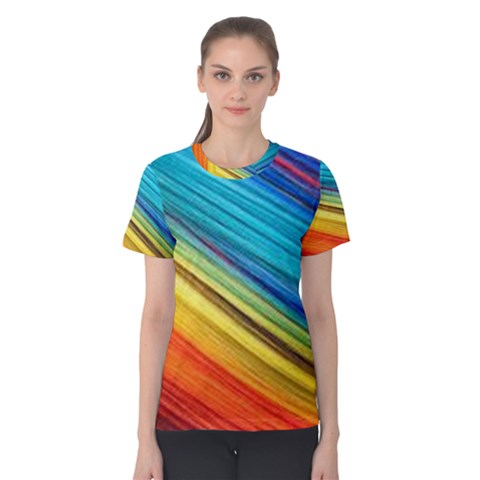 Rainbow Women s Cotton Tee by NSGLOBALDESIGNS2