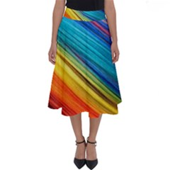 Rainbow Perfect Length Midi Skirt by NSGLOBALDESIGNS2