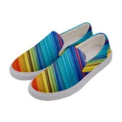 Rainbow Women s Canvas Slip Ons by NSGLOBALDESIGNS2