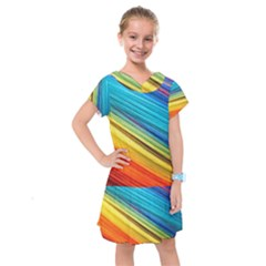 Rainbow Kids  Drop Waist Dress by NSGLOBALDESIGNS2