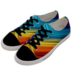 Rainbow Men s Low Top Canvas Sneakers by NSGLOBALDESIGNS2