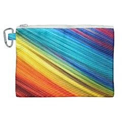 Rainbow Canvas Cosmetic Bag (xl) by NSGLOBALDESIGNS2