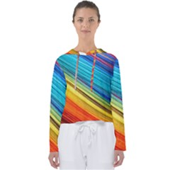 Rainbow Women s Slouchy Sweat by NSGLOBALDESIGNS2