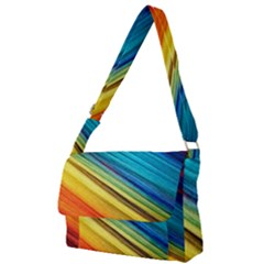 Rainbow Full Print Messenger Bag by NSGLOBALDESIGNS2