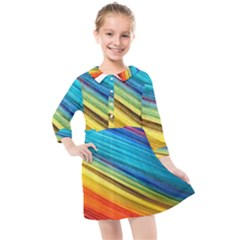 Rainbow Kids  Quarter Sleeve Shirt Dress by NSGLOBALDESIGNS2