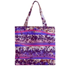 Abstract Pastel Pink Blue Zipper Grocery Tote Bag by snowwhitegirl