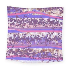 Abstract Pastel Pink Blue Square Tapestry (large) by snowwhitegirl