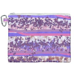 Abstract Pastel Pink Blue Canvas Cosmetic Bag (xxl) by snowwhitegirl