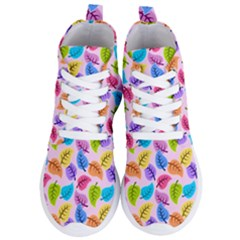 Colorful Leaves Women s Lightweight High Top Sneakers
