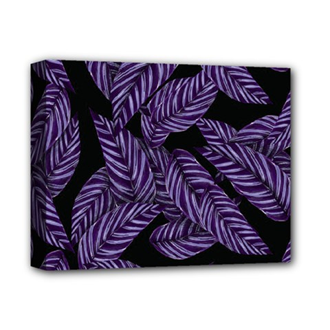 Tropical Leaves Purple Deluxe Canvas 14  X 11  (stretched)