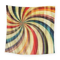 Abstract Rainbow Swirl Square Tapestry (large) by snowwhitegirl