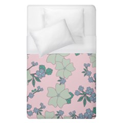 Vintage Floral Lilac Pattern Pink Duvet Cover (single Size) by snowwhitegirl