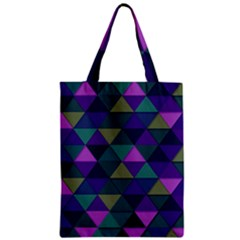 Blue Geometric Zipper Classic Tote Bag by snowwhitegirl