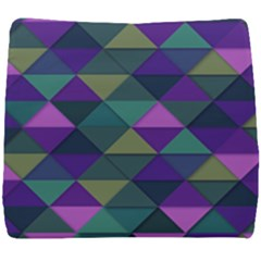Blue Geometric Seat Cushion by snowwhitegirl