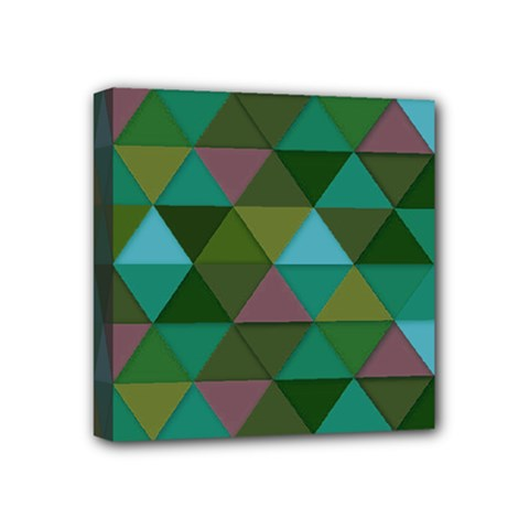 Green Geometric Mini Canvas 4  X 4  (stretched) by snowwhitegirl