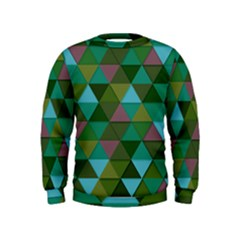 Green Geometric Kids  Sweatshirt